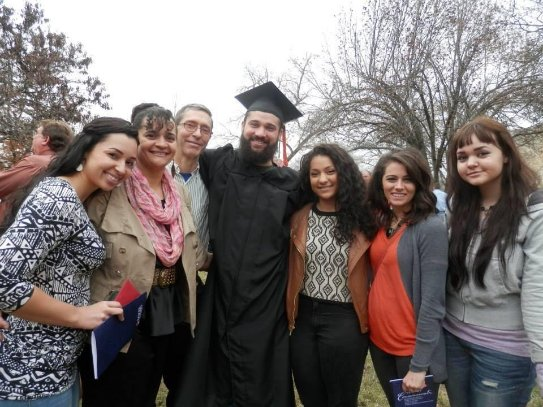 Josh Rueff Baker U Graduation and family