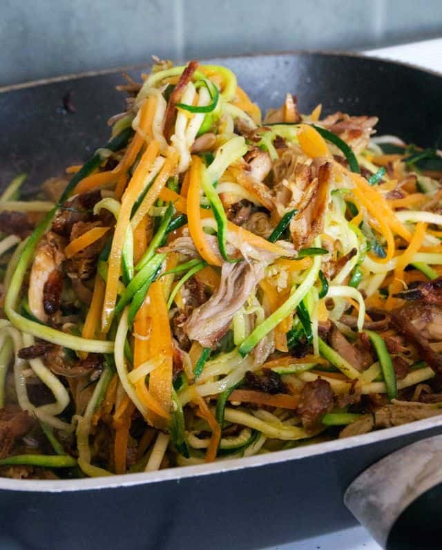 Pulled-Pork-And-Zoodles
