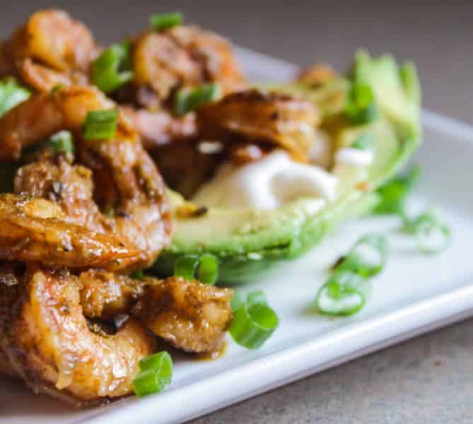 Creole Shrimp and Avocado