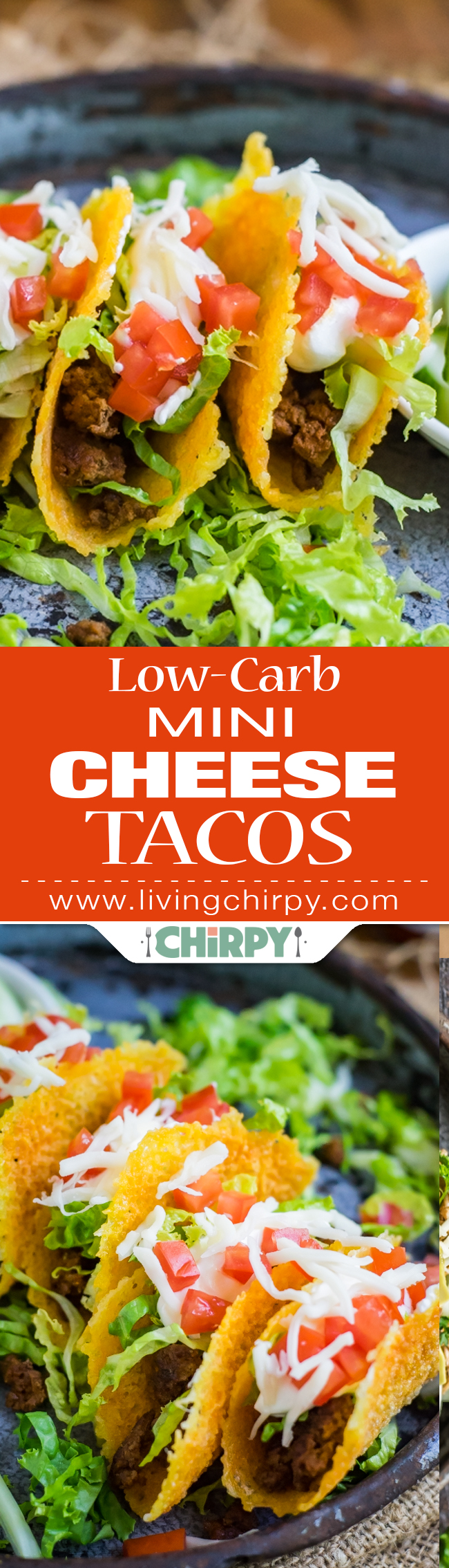 Low-Carb Mini Cheese Tacos | Living Chirpy