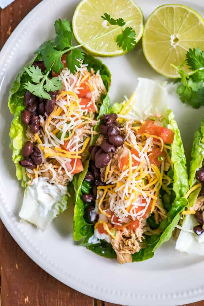 Low-Carb Shredded Chicken Tacos