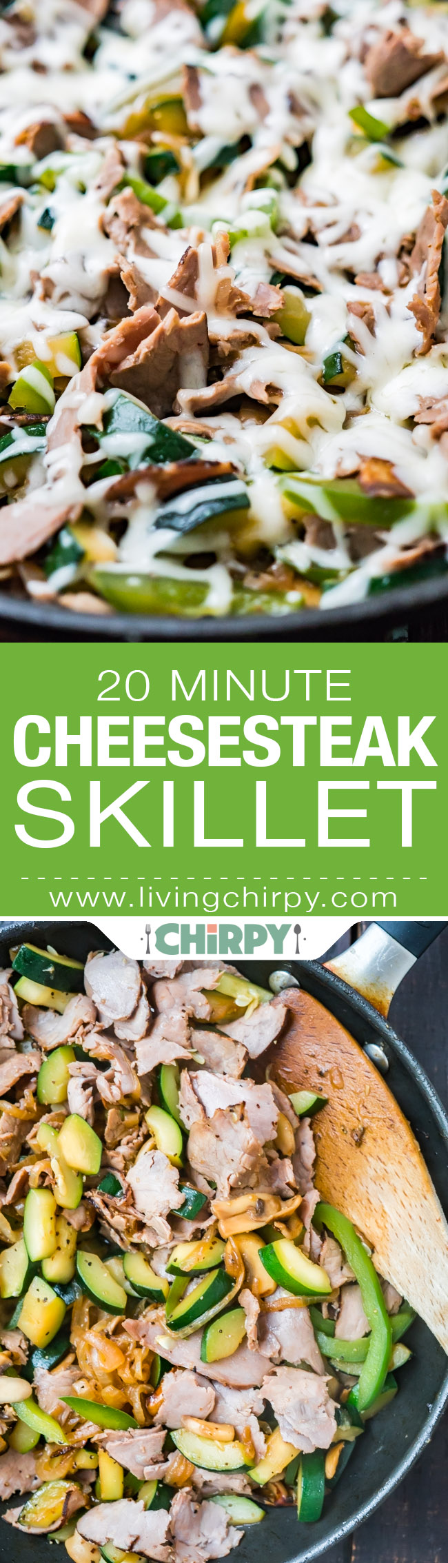 20 Minute Cheesesteak Skillet