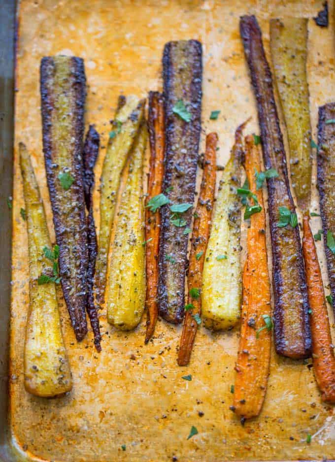 Garlic Butter Roasted Carrots