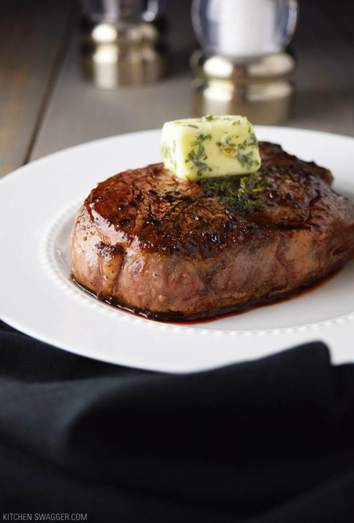 Pan-Seared Filet Mignon with Garlic and Herb Butter