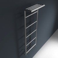 Wall Mounted Towel Radiator with Top Towel Rack - Shelf