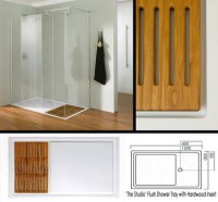 Shower Tray with Wood Insert | Shower Trays with Hardwood ...