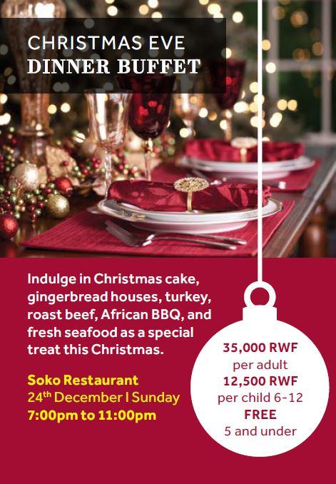 A Christmas Eve Buffet - christmas luncheon flyer