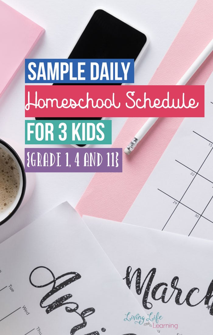 Sample Homeschool Daily Schedules for 3 Kids