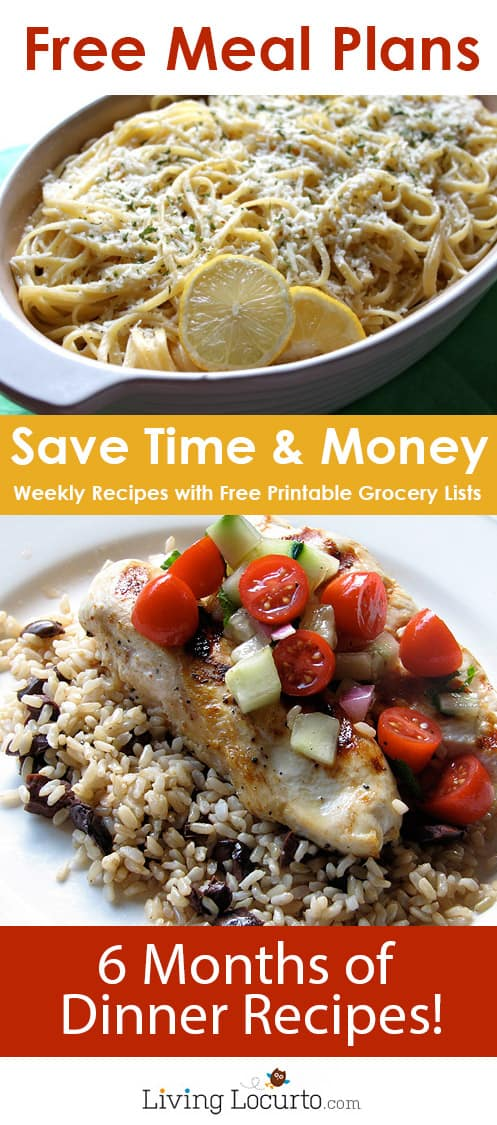 Money Saving - Free Meal Plans, Recipe Ideas \ Grocery Lists - weekly menu