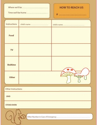 Free Printable Babysitter Checklists - Living Locurto