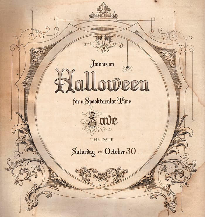 Save the Date for Halloween Free Download - Living Locurto - halloween invitation template