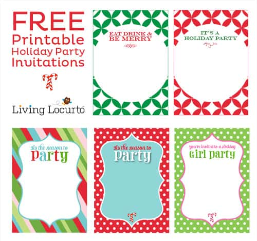 Free Printable DIY Holiday Party Invitations - holiday party invitations free