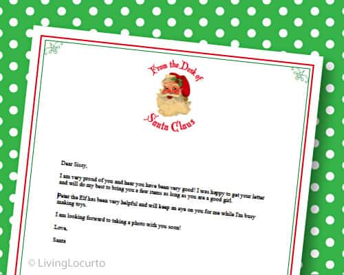 Gift Tags  Letter from Santa {Free Printables}