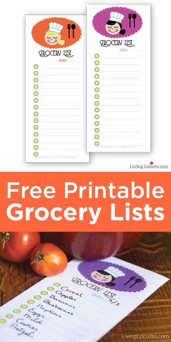 Free Printable Grocery Shopping Lists Living Locurto