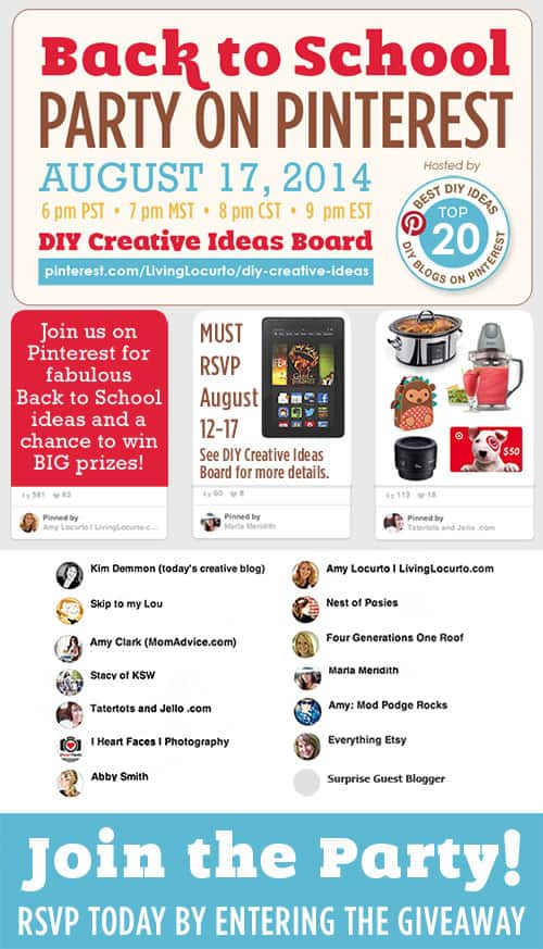 back to school pinterest party GIVEAWAY: Win Fun Prizes from We're the Millers! 500x873