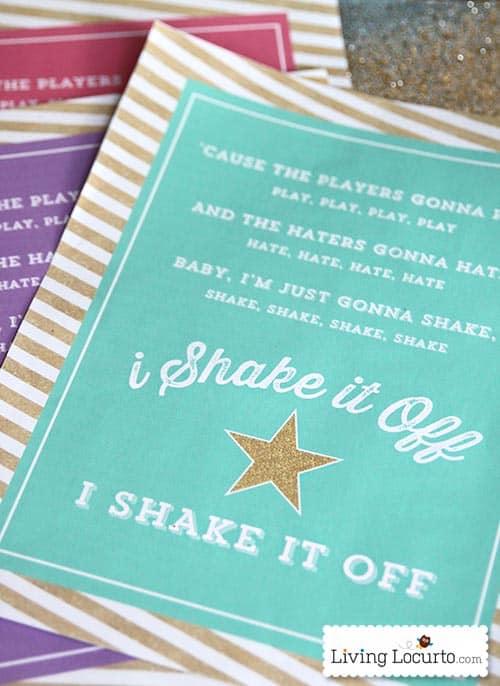 Shake It Off Free Printable Poster