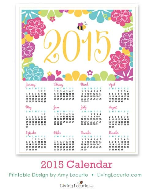 2015 Free Printable Calendars