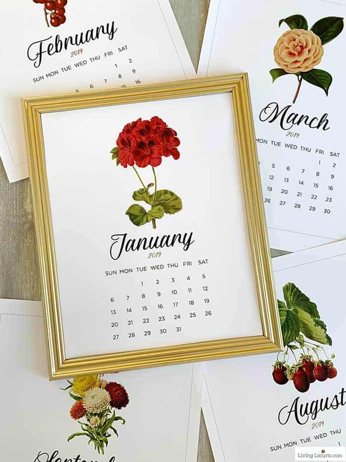 Printable Calendar January 2019 Living Locurto