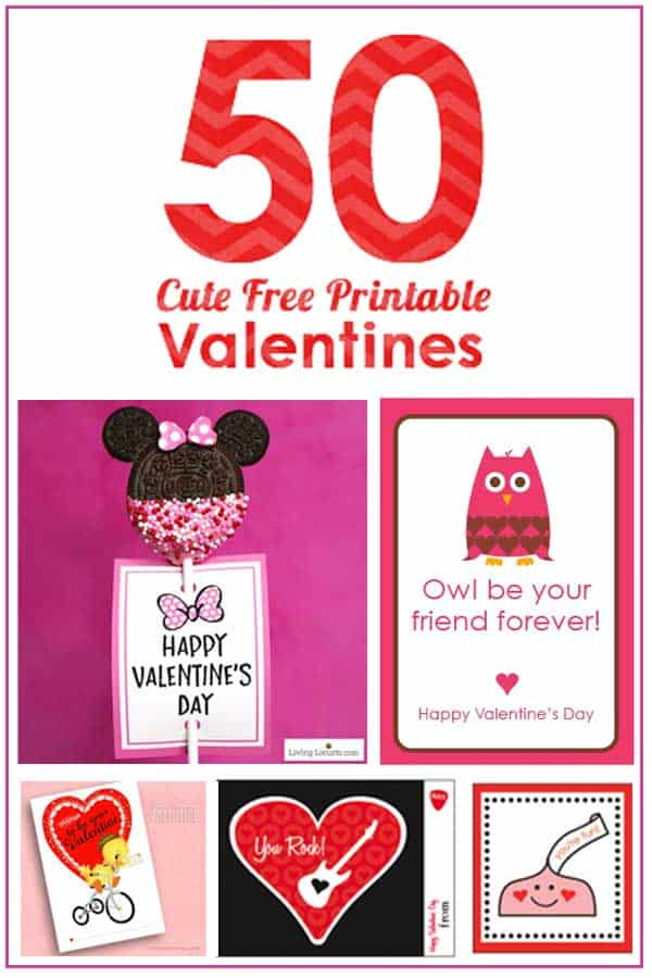 50 Best Valentines Day Free Printables for Kids Homemade Gifts
