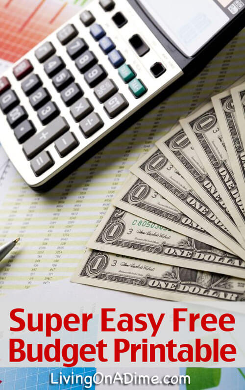 Budget Information and Easy Printable Budget Forms