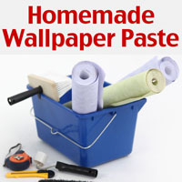 Homemade wallpaper paste recipe