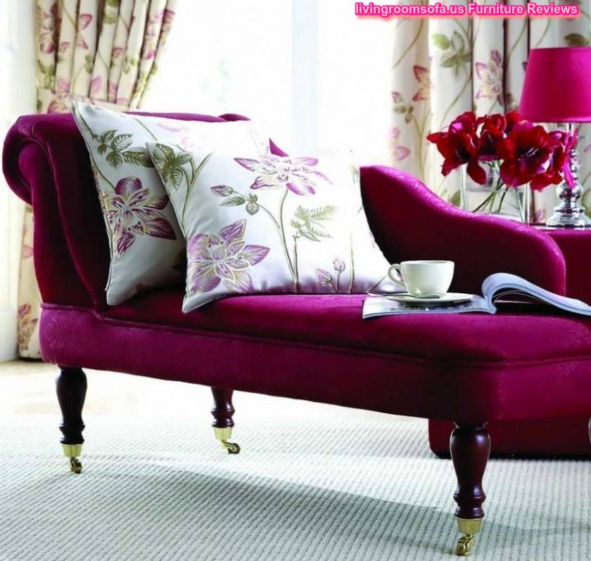 Beautiful Purple Chaise Lounge Couch For Bedroom Idea - bedroom couch ideas