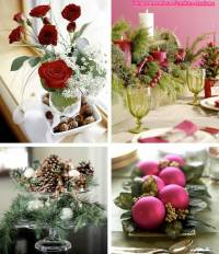 Dining Room Accent Pieces Christmas Table Decoration