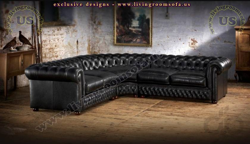 Elegant Chesterfield Sectional Sofa Catalog Luxury Living