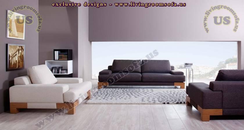 Modern Sofa, Gray and White Combination, Modern Livingroom - modern living room set