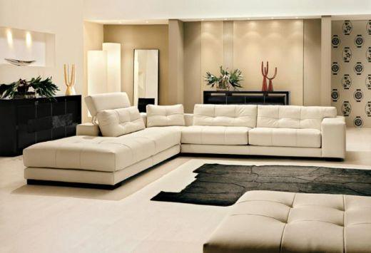 Leather Livingroom Sofa White Leather - interior design - white leather living room furniture