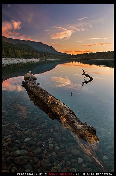 Sunset at Rattlesnake Lake, Summer 2013. By Manju Shekhar