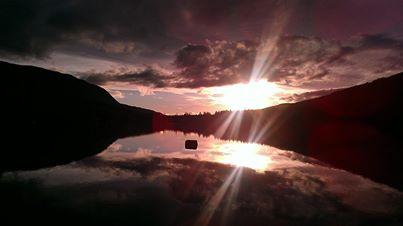 Sunset at Rattlesnake Lake 2/12/14 by Jane Heather Raymond