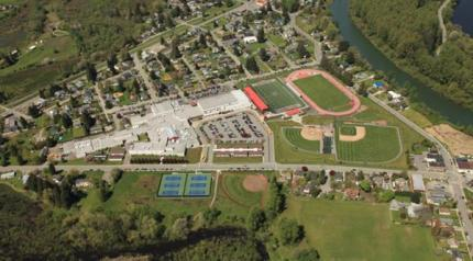 Current aerial photo of Mount Si High School and property. Photo: SVSD