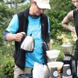 Zoka Coffee hiked up a generator to the top of Rattlesnake Ledge to brew fresh coffee for hikers Saturday morning, 7/16/16