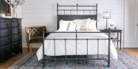 Country/Rustic Bedroom with Magnolia Home Trellis bed ...