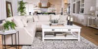Country/Rustic Living Room with Magnolia Home Homestead ...
