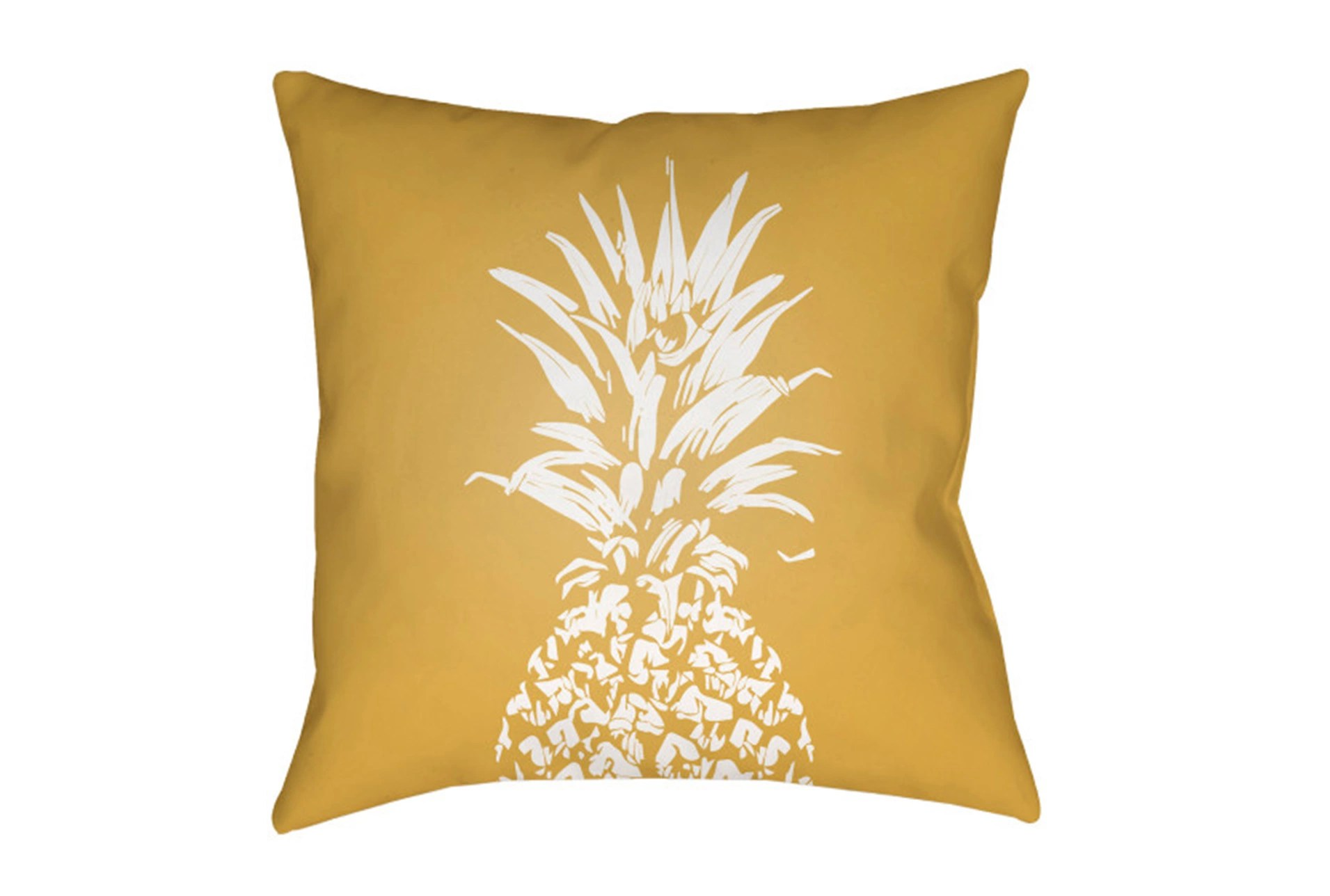 Outdoor Accent Pillow Yellow Pineapple 18x18 Living Spaces