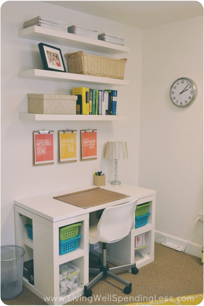 DIY Office on a Budget - Living Well Spending Less® - home office ideas on a budget