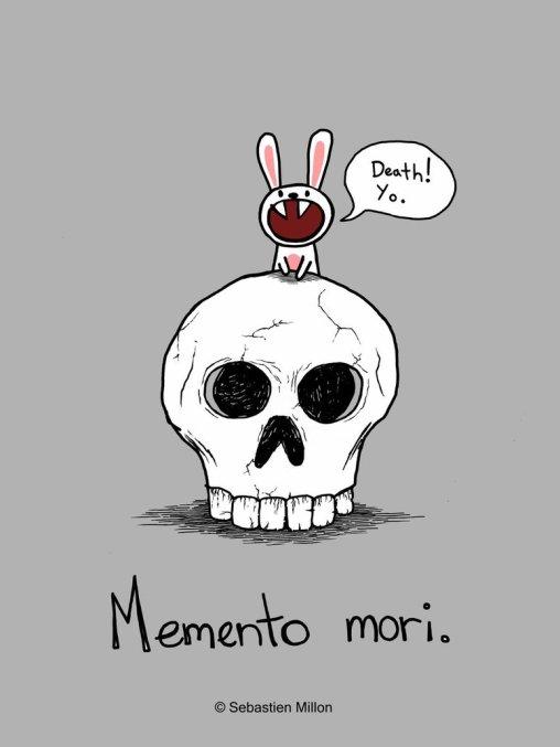 Memento mori - tegning