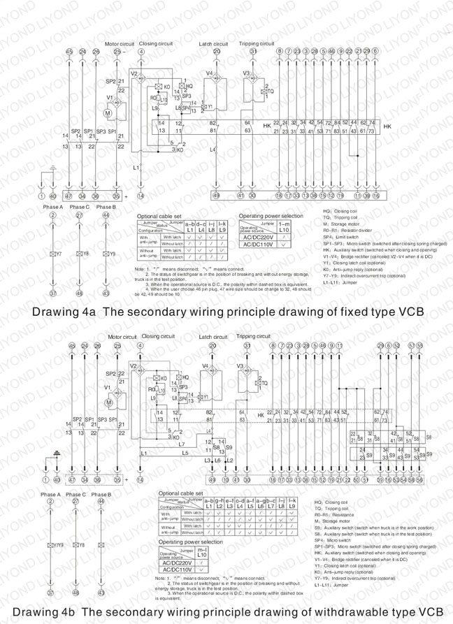 wiring diagram switchgear