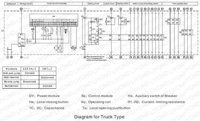 high voltage circuit breaker wiring diagram