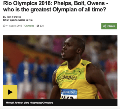 BBC Greatest Olympian?