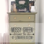 mossy green dresser re-do
