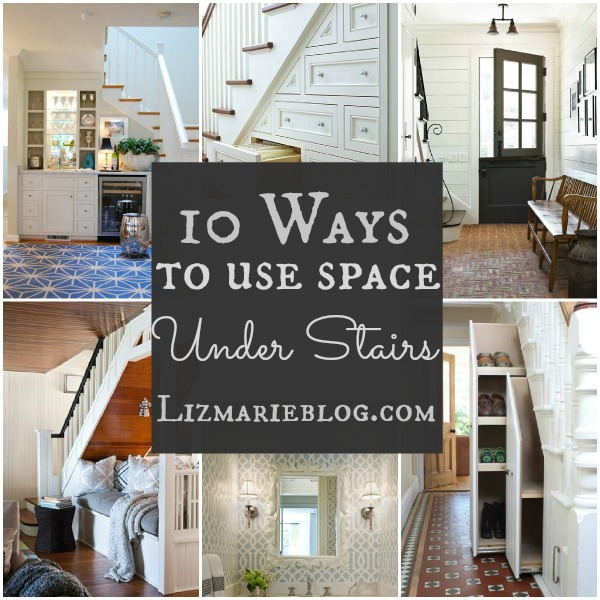 10 Ways To Decorate Under Stairs - lizmarieblog.