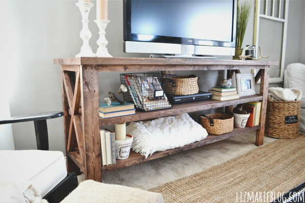 Diy tv console for Table under tv