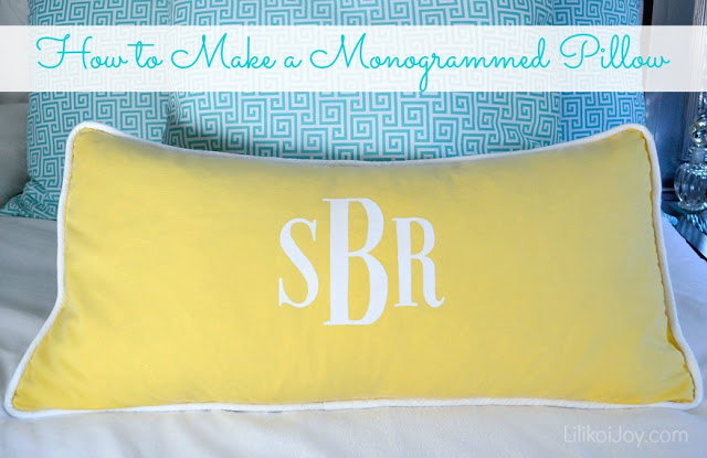 monogram pillow 1 text