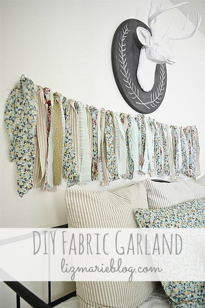 DIY Fabric Garland - lizmarieblog.com