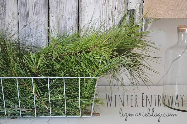 A simple winter entryway - lizmarieblog.com
