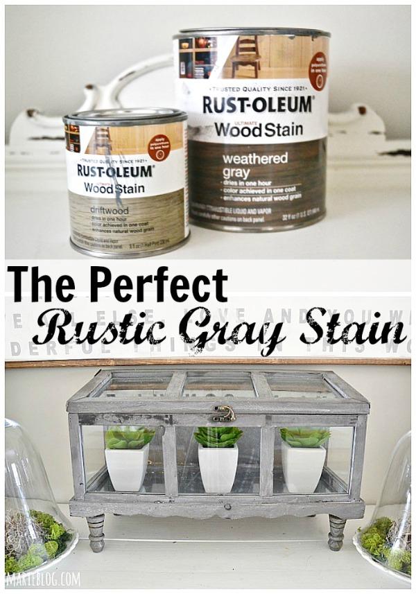 DIY Terrarium The Best Gray Stain amp Faux Greenery : The perfect rustic Gray stain lizmarieblog from www.lizmarieblog.com size 600 x 857 jpeg 127kB