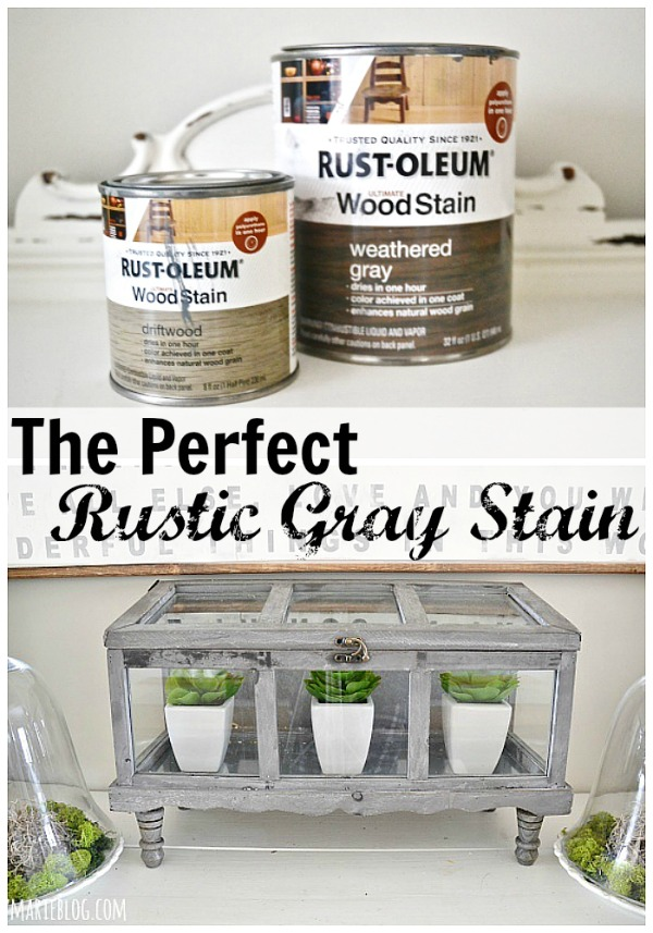 The perfect rustic Gray stain - lizmarieblog